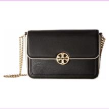 Tory Burch Duet Chain Large Convert Shoulder Bag, Black/Ivory - $281.89