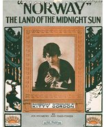 """Norway"" The Land of the Midnight Sun [Sheet music] JOE McCARTHY AND FRE... - $6.17"