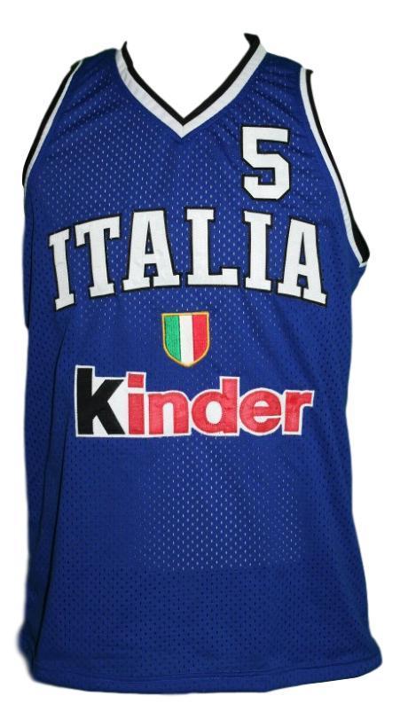 Gianluca basile  5 iy talia basketball jersey blue   1