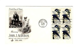 FDC ENVELOPE- JOHN JAMES AUDUBON- BL4 -1963 ART CRAFT CACHET  BK12 - $1.23