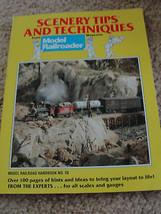 SCENERY TIPS&TECHNIQUES,MODEL RAILROADER MAGAZINE BOOK - $14.25