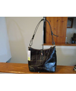 Authentic Dooney & Bourke Hobo Shoulder Bag Espresso Black new With Tag - $138.59