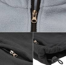 Men's Full Zip-Up Two Tone Solid Warm Polar Fleece Soft Collared Sweater Jacket image 4
