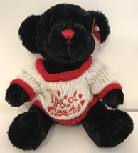 Soft Expressions Dan Dee Collectors Choice Black King of Hearts Teddy Be... - $5.00
