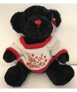 Soft Expressions Dan Dee Collectors ChoiceBlack King of Hearts Teddy Be... - $5.00