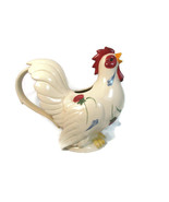1999 Lenox Rooster Pitcher Poppies on Blue Barnyard Collection w/ Orig Box  - $42.07