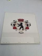 Vintage Trivet Ceramic Accent Wall Tile Berlin Shield Bear Lion Greece 6... - $10.45