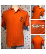 Vintage 85 Chicago Bears Men L Orange Logo 7 NFC Champions USA Polo A3140 - $26.95