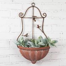 English Garden Wall Mount Planter Outdoor Indoor Hanging Rustic Flowers,... - $84.15