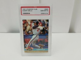 1991 Topps Stadium Club Albert Belle Baseball Card PSA 10 Gem Mint #465 - $29.31