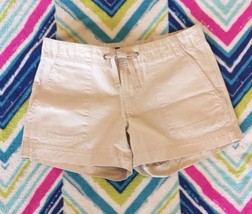 Khaki Shorts Gap Jeans Womens Size 10 Drawstring Waist Cotton - $12.99