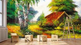 3D Bach hinter DEM Haus 37 Fototapeten Wandbild Fototapete BildTapete Familie DE - $52.21+