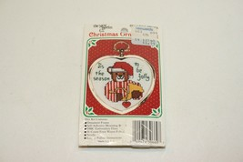 1980s New Berlin Christmas Ornament 3 x 2.5 Counted Cross Stitch NOS - $4.94