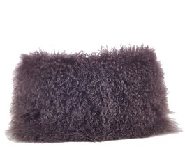 Fennco Styles Genuine Mongolian Lamb Fur Down Filled Decorative Throw Pi... - $98.99