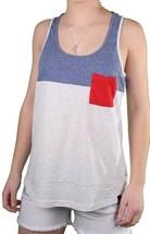 Bench Womens Blue Light Grey Unballoo Tank Top Sleeveless Vest BLGA2531 NWT
