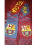Fc Barcelona Soccer Futbol Scarf Banner Souvenir - $19.30