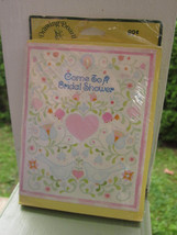 HIPPIE BRIDAL SHOWER 8 INVITATIONS by DRAWING BOARD GREETING CARDS Vintage - $9.49
