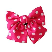 Chiffon Large Bowknot Hair Clip Handmade Hair Barrette Ladies and Girls Hair Bow