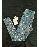 NWT Lularoe OS Merry & Bright Holiday leggings w/cartoon animals   - $24.74