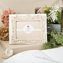 FASHIONCRAFT 2465 Baroque Design Guest Book with Photo Cover, Ivory - $19.16