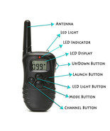 Remote Dog Training Collar 330 Yard Radius LCD 100LV Shock Pet Bark - $55.43