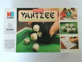 Original Yahtzee Board Game Vintage 1982 MB Milton Bradley - The 5 Dice ... - $16.56
