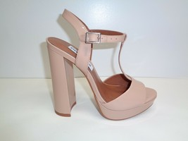 Steve Madden Size 5.5 M KINDER Beige Patent Leather Sandals New Womens S... - $68.31