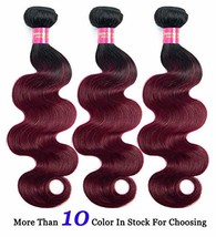 Ombre Burgundy Body Wave Virgin Hair 3 Bundles 9A Ombre Body Wave Human ... - $74.10