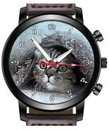 Hiding Under Rug Cute Cat Unique Unisex Beautiful Wrist Watch UK FAST - $45.00