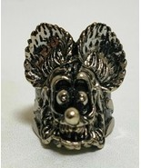 Silver Ring face figure Collectible Japan licensed VERY RARE Rat fink - $141.72