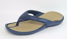 Crocs unisex sandals flip flip rubber blue size women's 10 men's 8 - $19.69