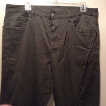 Men's Banana Republic Stretch Green Pants Sz 36R image 2