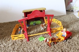 PLAYMOBIL Pony Farm #5937 not complete horse carriage fence figures - $14.80