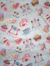 Vintage Coffee Shop Theme Fabric Retro Concord Fabrics Inc. by The Kessl... - $29.99