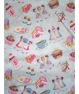 Vintage Coffee Shop Theme Fabric Retro Concord Fabrics Inc. by The Kessl... - $29.99