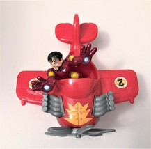 FISHER PRICE IMAGINEXT SKY RACERS Aircraft RED MINI PLANE #2 With Figure - $4.94
