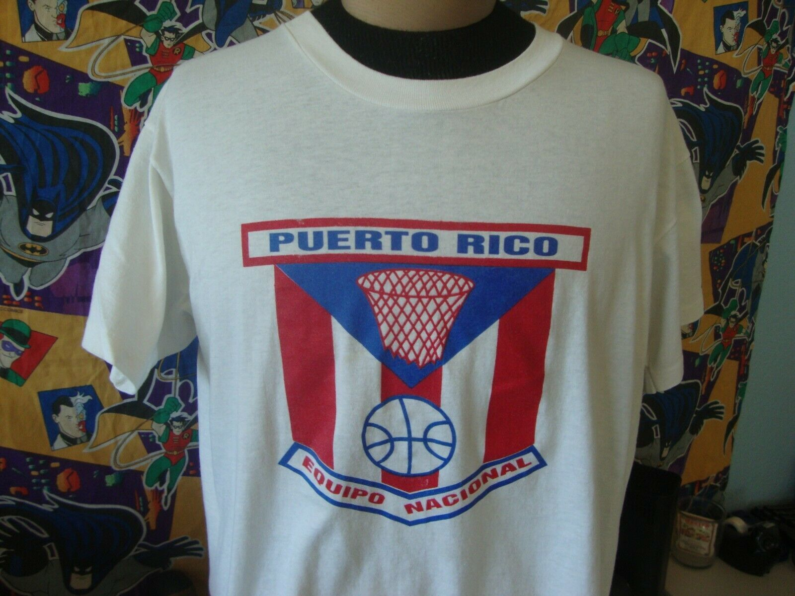 Primary image for Vintage 90's Puerto Rico Basketball Argentina 1992 T Shirt L