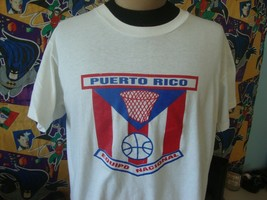 Vintage 90's Puerto Rico Basketball Argentina 1992 T Shirt L  - $98.99