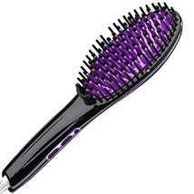 Calily Premium Heated Hair Straightening Brush Black Purple 450 Degree M... - $30.81