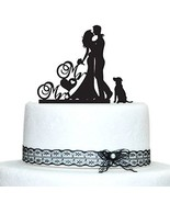 Buythrow® Wedding Cake Toppers With Dog Bride And Groom Silhouette Mr An... - $24.01