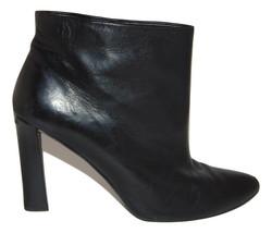 Stuart Weitzman Sleek Black Nappa Leather Bootie Women's 9 M - $57.83