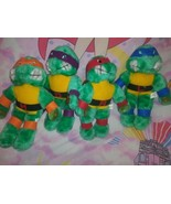 Vintage Teenage Mutant Ninja Turtles Finestrino Cling Set Peluche Leonardo - $52.17