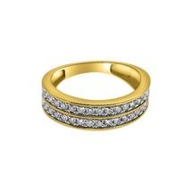 1.00cttw Diamond 2 Row Bling Bling 10K Gold Ring - $919.20