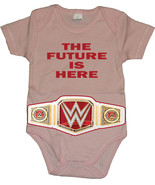 "The Future Is Here"" WWE With Women's Championship Belt Baby Creeper/Body... - $19.79"