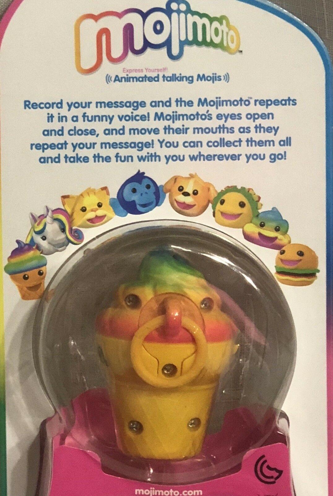 Mojimoto Rainbow Ice Cream Cone Animated TALK BACK Mojis New In Package