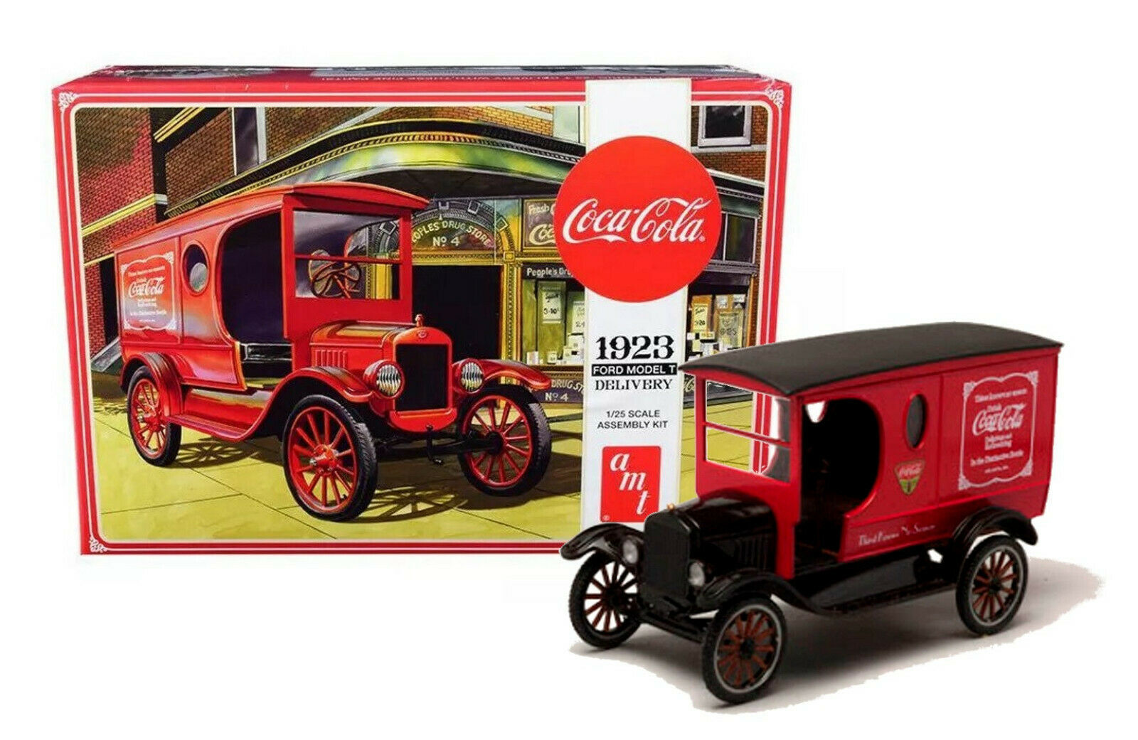 Primary image for AMT 1923 Ford Model T Delivery Coca Cola 1/25 Scale Model Kit New in Box