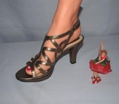 Naturalizer NF Comfort Sandals Danya Size 7.5N Cafe Goldish pewter NWOB - $24.70