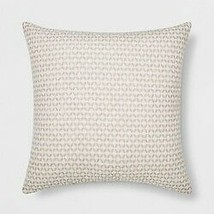 Woven Geo Square Throw Pillow Cream/Neutral - Project 62- new  (store)   image 1