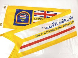 Drink Pussers Rum Flag Support the Royal Navy sailors fund British - $58.82