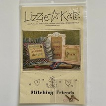 Lizzie Kate Stitching Friends 086 Cross Stitch Pattern W/Charms Stitched In Love - $10.89